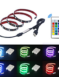 cheap -5m Flexible LED Light Strips / RGB Strip Lights / Remote Controls 150 LEDs SMD5050 1 24Keys Remote Controller Multi Color USB / Party / Decorative 5 V 1 set / Self-adhesive