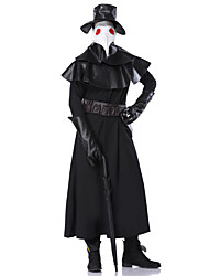 cheap -Plague Doctor Retro Vintage Medieval Steampunk Gloves Hat Mask Masquerade Men's Costume Black Vintage Cosplay Party / Leotard / Onesie / Collar / Belt / Collar / Belt