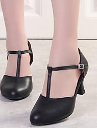 cheap -Women's Modern Shoes / Ballroom Shoes Microfiber Heel Slim High Heel Dance Shoes Black / Performance