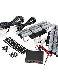 cheap -6pcs/set 54 LED Emergency Strobe Lights Front Grill Flash Lamps with 3 Flashing Mode Yellow for 12V Vehicles