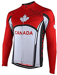 cheap -21Grams Men's Long Sleeve Cycling Jersey Red Bike Jersey Top Mountain Bike MTB Road Bike Cycling Thermal / Warm UV Resistant Breathable Sports Winter 100% Polyester Clothing Apparel / Stretchy