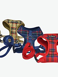 cheap -Dogs Outfits Harness Leash Dog Clothes Red Blue Beige Costume Dalmatian Shiba Inu Pug Poly / Cotton Blend Plaid / Check Ordinary Special S M L XL