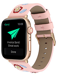 cheap -Suitable For Apple Smart Watch APPLE IWatch 1/2/3/4 38mm/40mm/42mm/44mm S-Style Creative Floral Embroidered Genuine Leather Watch Strap
