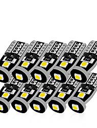 cheap -10pcs T10 LED White 3SMD 5050 Led Car Light W5w 194 168 CANBUS Error Bulbs 12V Wedge Lamp Turn Signal Light Band Decoder Sign