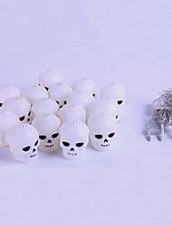 cheap -3m Halloween Skull String Lights 20 LED Skull Lights Decoration Lanterns Skeleton for Halloween Decoration Light Christmas Party Warm White 1set