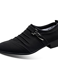 cheap -Men's Comfort Shoes Canvas Fall Casual Loafers & Slip-Ons Wear Proof Black / Blue / Gray / Party & Evening