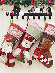 cheap -Santa Claus Snowman Elk Gift Bag Children's Large Christmas Socks Mall Window Christmas Pendant