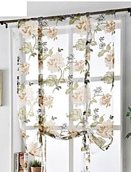 cheap -Sheer Curtains for Bedroom Living Room Tatami Decoration Large Peony Roman Curtain Bay Window Light Curtain