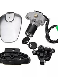cheap -Motorcycle Ignition Switch Seat Fuel Gas Cap Lock & 2 Keys Set For Suzuki EN 125