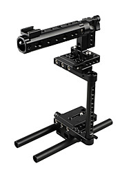 cheap -CAMVATE DSLR Camera Cage Rig With 2 Shoe Mounts And Double Rods For Canon Nikon Sony Panasonic C1920