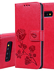 cheap -Case For Samsung Galaxy S10 S10E Palace flower PU Leather with Card Slot Flip up and down  For Galaxy S10 PLUS