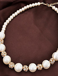 cheap -Women's Pearl Necklace Classic Star Fashion Pearl White 45+6 cm Necklace Jewelry 1pc For Daily