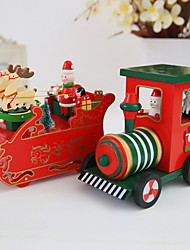 cheap -Christmas Ornaments Holiday Wooden Mini Wooden Christmas Decoration