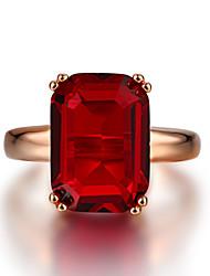 Недорогие -Жен. Кольцо 1шт Красный Зеленый Медь Круглый Классический Мода фестиваль Бижутерия