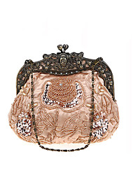 cheap -Women's Sequin Polyester Evening Bag Embroidery Black / Wine / Purple