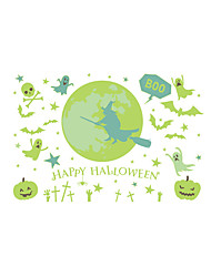 cheap -Luminous Happy Halloween Wall Stickers - Animal Wall Stickers Characters / Animals Study Room / Office / Dining Room / Kitchen/ Bedroom