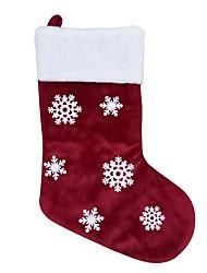 cheap -Christmas Snowflake Christmas Socks Gift Bag Party Arrangement Props Decoration Pendant