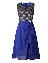cheap -Women's Basic A Line Dress - Solid Colored Blue S M L XL