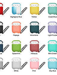 cheap -PU Leather Protective Case Cover For Apple AirPods 2/1 Headphone Protective Cover Case Simple Style Apple Airpods Shockproof