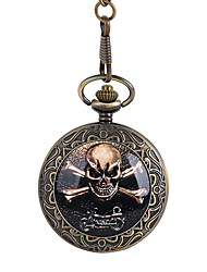 cheap -Men's Pocket Watch Quartz Vintage Style Creative Cool Skull Analog - Digital Vintage - Bronze