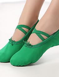 cheap -Girls' Dance Shoes Canvas Ballet Shoes Flat Flat Heel Green