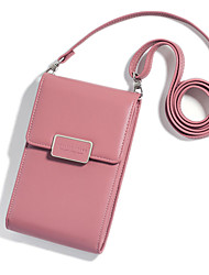 cheap -Women's Bags PU Leather Mobile Phone Bag Zipper for Holiday / Going out Wine / Black / Blushing Pink / Fall & Winter