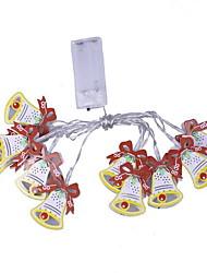 Недорогие -3 м Рождественский колокольчик огни 20 светодиодов теплое белое Рождество Новый год партия декоративные 5 В 1 комплект
