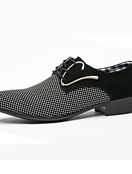 cheap -Men's Comfort Shoes PU Fall Casual Oxfords Wear Proof Black and White / Blue / Party & Evening