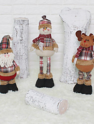 cheap -Christmas Figurines / Christmas Ornaments Family Flannelette Square Cartoon / Cartoon Toy Christmas Decoration