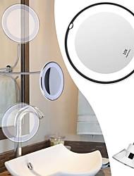 abordables -miroir de maquillage à col de cygne flexible 10x grossissant le maquillage avec miroir cosmétique monté mural à ventouse