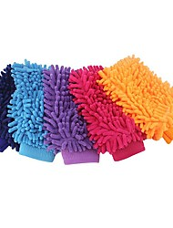 cheap -1Pair Car Wash Glove Ultrafine Fiber Chenille Microfiber Home Cleaning Window Washing Tool Auto Care Tool Car Drying Random Color