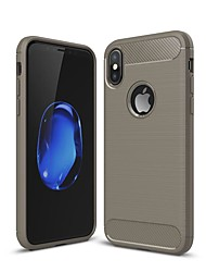 cheap -Case For Apple iPhone XS / iPhone XR / iPhone XS Max Shockproof / Ultra-thin Back Cover Solid Colored Carbon Fiber