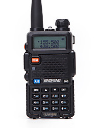 cheap -BAOFENG UV-5R 5KM-10KM 1800mAh 5W Walkie Talkie Two Way Radio FM Radio LCD Display with Flash Flight Frequency Range 136-174MHz 400-470MHz