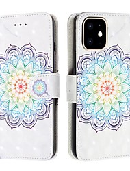 cheap -Case For Apple iPhone 11 / iPhone 11 Pro / iPhone 11 Pro Max Wallet / Card Holder / Flip Full Body Cases Flower PU Leather