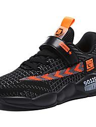 abordables -Garçon Confort Tissu élastique / Flyknit Chaussures d'Athlétisme Grands enfants (7 ans et +) Course à Pied Noir / Orange / Jaune Automne / Bloc de Couleur