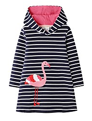 cheap -Kids Girls' Cute Striped Dress Black