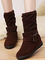 cheap -Women's Boots Flat Heel Round Toe Suede Mid-Calf Boots Fall & Winter Black / Brown / Gray