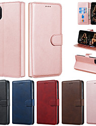 cheap -Case For Apple iPhone 11 Pro Max iPhone 11 Pro Phone Case PU Leather Material Solid Color Pattern Phone Case for iPhone 11 XS Max XR XS X 8 Plus 7 Plus 8 7 6s Plus 6 Plus 6s 6