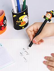 Недорогие -5 стилей хэллоуин мягкая керамика шариковая ручка настольные украшения тыква шариковые ручки подарок канцелярские школьные принадлежности