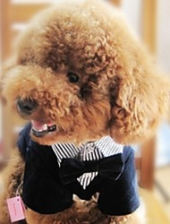 cheap -Dogs Suit Dog Clothes Black Costume Baby Small Dog Polyster Striped Wedding XS S M L XL XXL