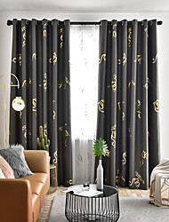 cheap -Two Panel American Country Style Hot Silver Printing High Blackout Curtain Living Room Bedroom Dining Room Curtain