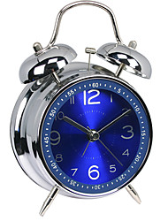 cheap -Clock Desk & Shelf Clocks / Tabletop Clock Modern Contemporary Plastic & Metal / Glass / Plastic Round Metal Silent Double-Bell Creative Alarm Clock Gift Digital Alarm Clock