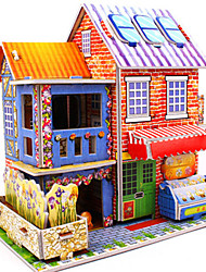 cheap -3D Puzzle Jigsaw Puzzle Model Building Kit Famous buildings House DIY Hard Card Paper Classic Anime Cartoon Kid's Unisex Toy Gift