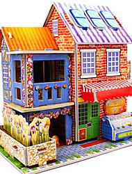abordables -Puzzles 3D Puzzle Kit de Maquette Bâtiment Célèbre Maison A Faire Soi-Même Papier cartonné Classique Anime Dessin Animé Enfant Unisexe Jouet Cadeau