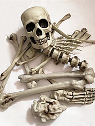 cheap -19 pcs set bone bag skeleton and skeleton Horror statues sculpture resin Halloween Christmas New Year Decoration