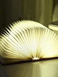 cheap -Book Shaped LED Night Light Staycation Creative Warm White USB <=36V