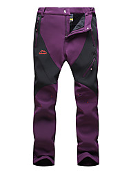 cheap -Women's Hiking Pants Patchwork Winter Outdoor Waterproof Windproof Breathable Warm Pants / Trousers Bottoms Climbing Camping / Hiking / Caving Traveling Black Violet Fuchsia L XL XXL XXXL 4XL