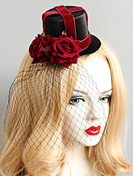 cheap -Women's Vintage Trendy Fashion Fabric Alloy Hat Hair Clip Halloween Club