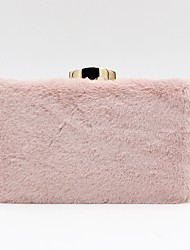 cheap -Women's Faux Fur / Alloy Evening Bag Solid Color Blushing Pink / Beige