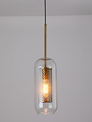 cheap -1-Light Small mesh chandelier creative luxury cafe lounge hotel bedside glass chandelier
